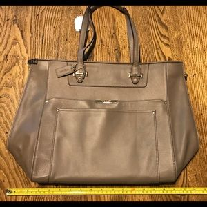 Luxe leather tote